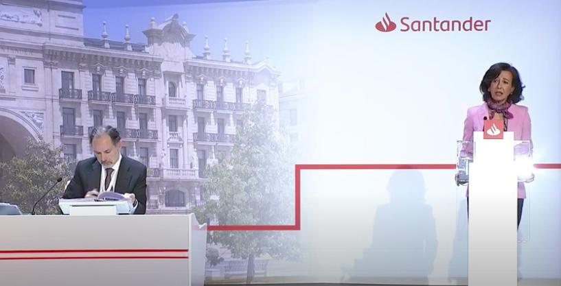 Rentabilidad de las acciones del Banco Santander,2010-2020